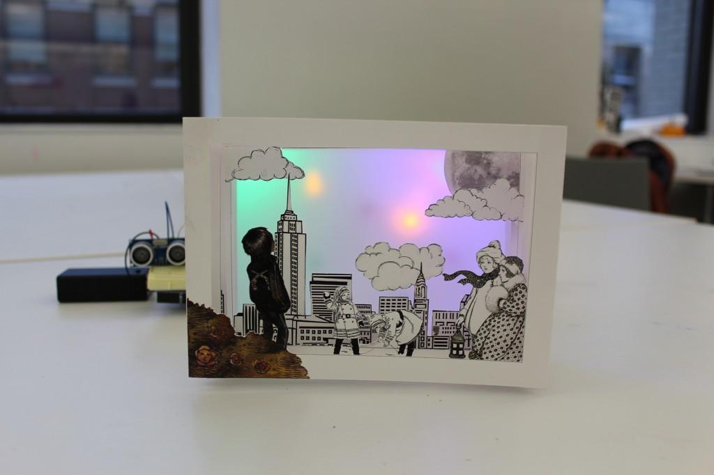 Final book art with arduino computational craft