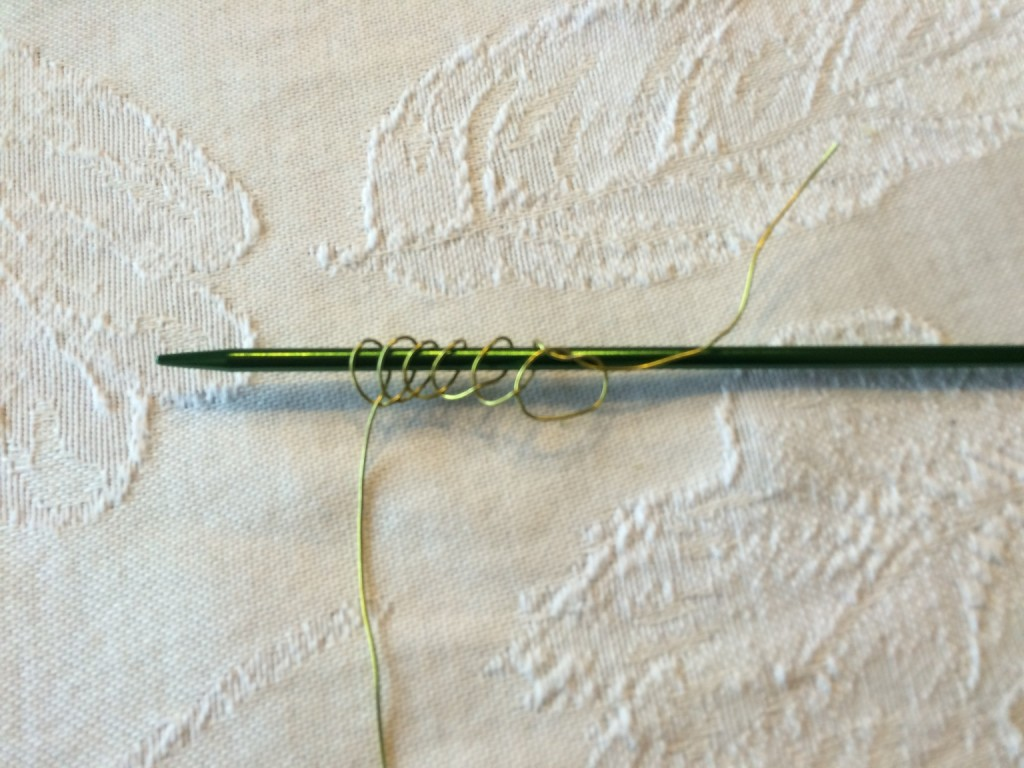 Knitting test with heavier copper wire